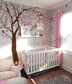 For a baby girl: Nursery Wall Decal - blossom tree wall decal wall sticker. $118.00, via Etsy.