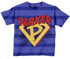 Boys Superhero Shirt Personalized Super Hero by SimplySublimeBaby, $24.95
