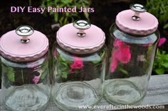 Ever After in the Woods : DIY Jars with Cute lids