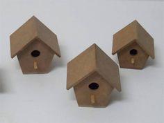 Casa de Passarinho mini em mdf cru R$ 3,50