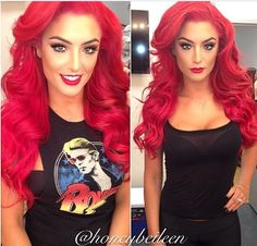Gorgeous bright red hair