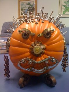 steampunk pumpkin by lybrarian