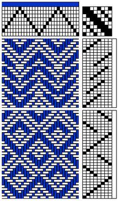 8-shaft weave draft
