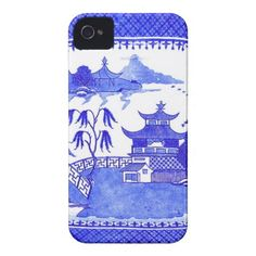 Blue Willow Chinoiserie iPhone Case