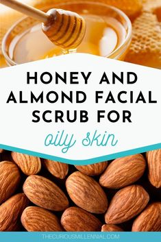 Looking for an easy face scrub recipe for acne? This post has a diy almond and honey facial scrub recipe which will treat your acne and oily skin, giving you a soft and supple skin. Use this exfoliating face scrub recipe for lightening the skin and giving a natural glow. This homemade facial scrub will reduce your blemishes and give you a clear skin. #diybeauty #diy #scrub #exfoliating #oilyskincare