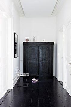 black floors