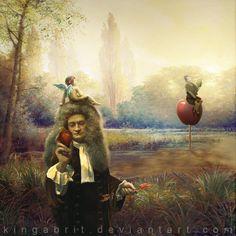 Mr. Newton Has An Idea by *kingabrit on deviantART