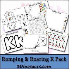 Free Romping & Roaring K Pack - 3Dinosaurs.com