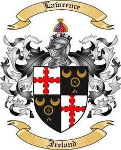 Lawrence Coat of Arms - Irish