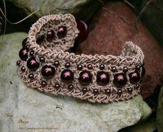 Leather crochet bracelet Armona project on Craftsy.com
