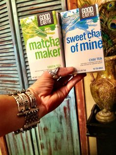 """""""Just letting you know how I'm loving the new to me flavors I bought last week the Matcha and the Chai! So yummy!"""" ~Good Earth fan"""