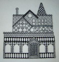 blackwork | Victorian House Blackwork - | Flickr - Photo Sharing!