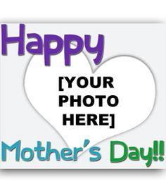 Tarjeta de felicitación para el día de la madre. con un corazón y texto en colores. (en inglés) www.fotoefectos.com