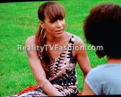 "Amina Buddafly's H&M Aztec Print Jumpsuit on ""Love & Hip Hop New York"""