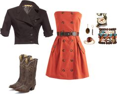 brown and orange, created by hayleejade3 on Polyvore