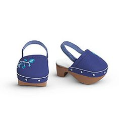 American Girl® Accessories: Blueberry Clogs for Dolls