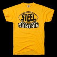 HOMAGE Pittsburgh Steelers Steel Curtain Football T-Shirt http://pinterest.com/hamptoninnmonro/ #hamptoninnmonroeville http://www.facebook.com/#!/HamptonInnMonroeville #pittsburghhotel