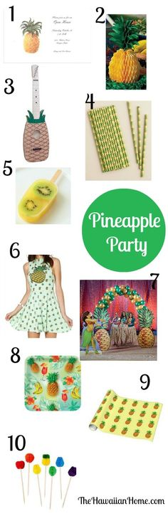 pineapple party ideas for luau, birthday parties or whatever