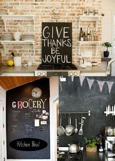 Chalkboard in the kitchen!