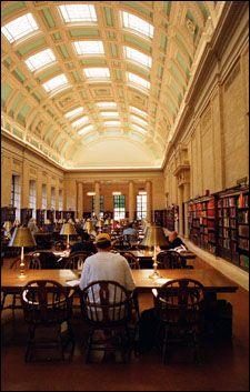 Widener Library, Harvard University, Cambridge, Massachusetts.