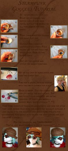 Steampunk Goggles Tutorial by *mtani on deviantART