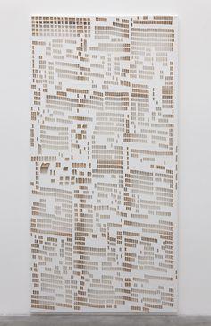 Hugh Scott-Douglas | Torn Cheque | Laser Cut Linen, 2013