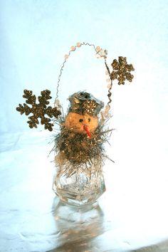 Salt Shaker Snowman Decoration