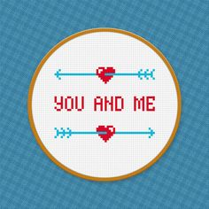 Love Quote  You and Me  Cross Stitch PDF by pixelpowerdesign, $3.00