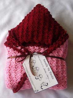 Free baby swaddling blanket crochet pattern. And lovely freebie tag to go with it : thanks so xox