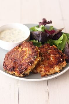 Crab Cakes with Lemon Herb Sauce | Taste: Oh so fresh with the lemon and herbs which complement the delicate crab flavor brilliantly....| From: handlethehet.com