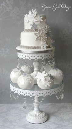 Different winter wedding cake