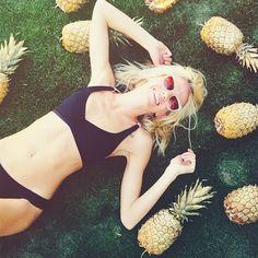 G O L D E N pineapples! {L*Space Bikini}