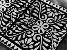 block print carving
