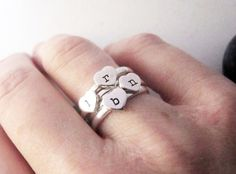 Think of these custom rings as little silver love letters.