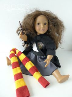 Hogwarts Student Doll Clothes  18 in American by PiecesByPolly, $15.00