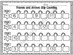 Skip Counting - Frames and Arrows - Preview Freebie from First Grade Fun Times on TeachersNotebook.com -  (23 pages)  - Skip Counting in Frames & Arrows; Addition and Subtraction