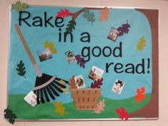 New fall bulletin board. All the shapes are cut with a silhouette.