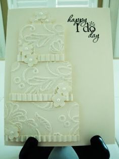 clever idea - L.O.V.E it! card sampl, cake card, wedding cakes