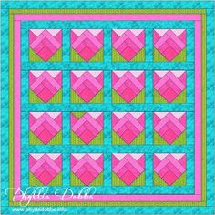Spring Blooms Quilt Phyllis Dobbs http://phyllisdobbs.info/category/free-patterns/