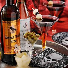 Pour on the fun at your Halloween party by brewing up creative cocktails to make guests' spines tingle!