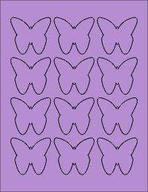 "Purple Butterfly Labels - Printable Butterfly Stickers -  2.2901"" x 2.1094"""