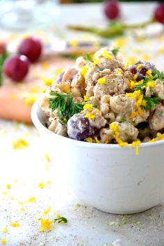 Easy Gluten Free Vegetarian Pasta Salad recipe - #sidedish