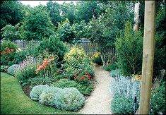 Plants grouped into beds require less care than individual specimens. Develop walkways through wide beds for easy access and maintenance.