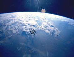 View from space to planet Earth
