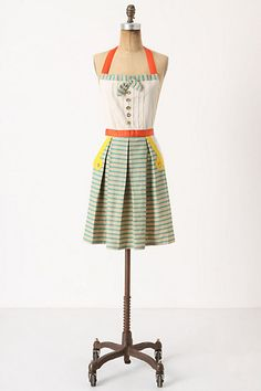 cloth, colors, birthdays, food, dress, anthropologie, aprons, baking, kitchen