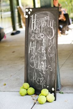 Happily Ever After Chalkboard Wedding Sign