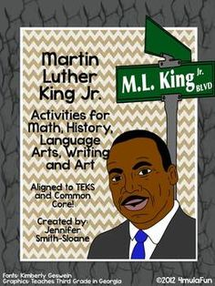 Ready to spend time learning more about Martin Luther King Jr. through Math, History, Language Arts, Writing and Art activities?