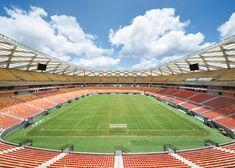 Manaus stadium by GMP Arkitechten hosts four World Cup matches.