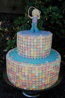 A Smarties Cake! Such a cute idea