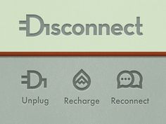 Dribbble - Disconnect Movement | Logo